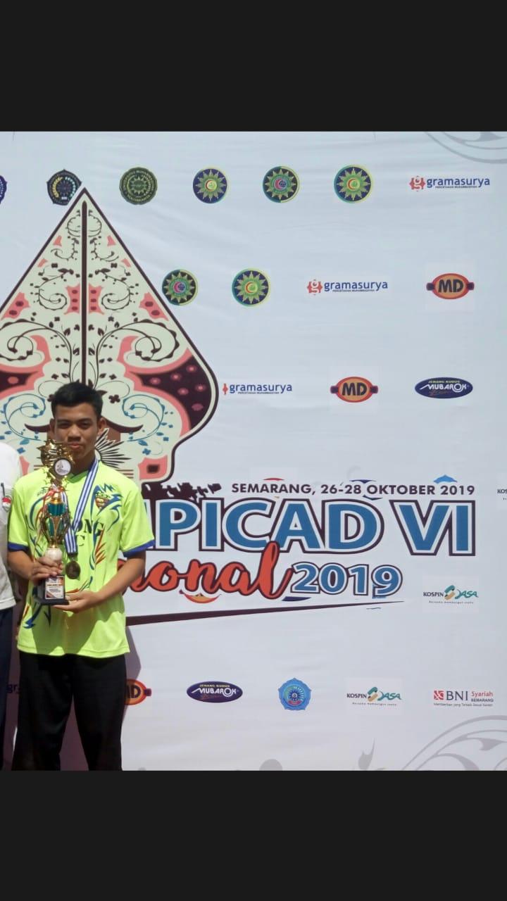M. Haekal Juara 3 Hifdzul Quran pada ajang olympicad di Universitas Muhammadiyah Semarang, 26 -28 Oktober 2019